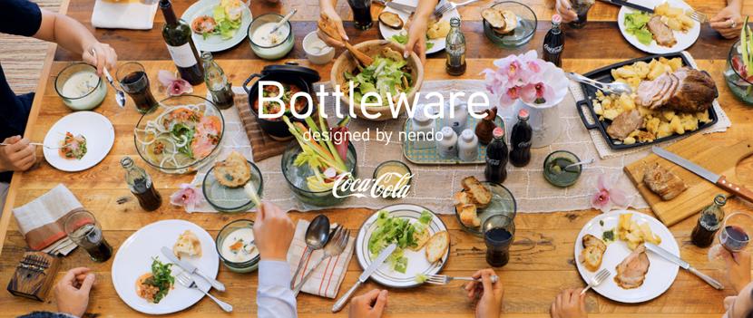 coca-cola nendo bottleware