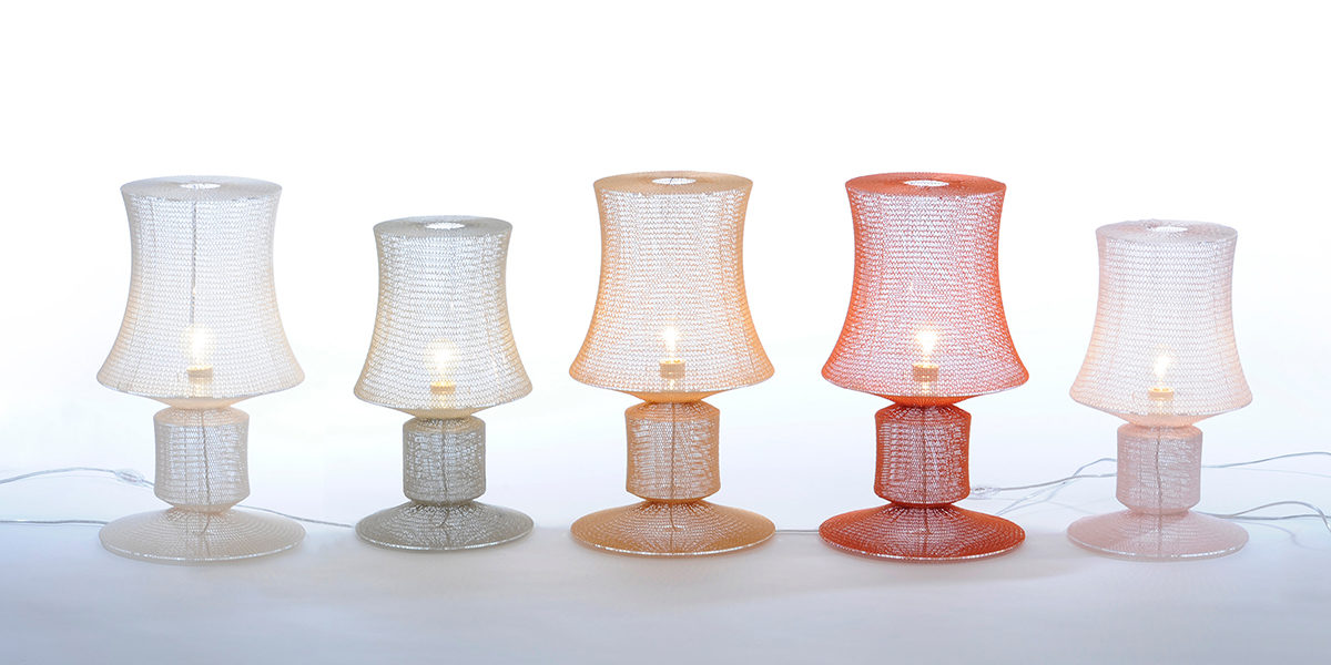 Meike Harde, Knitted Lamp